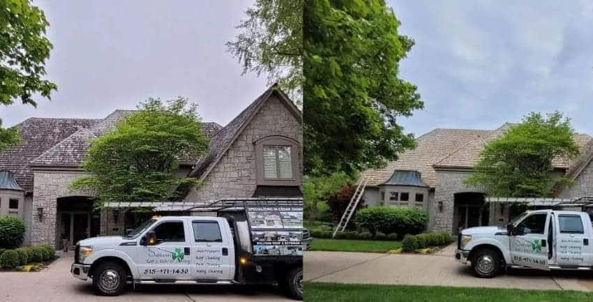 Cedar Shakes Roof Cleaning in Oregon 850x433