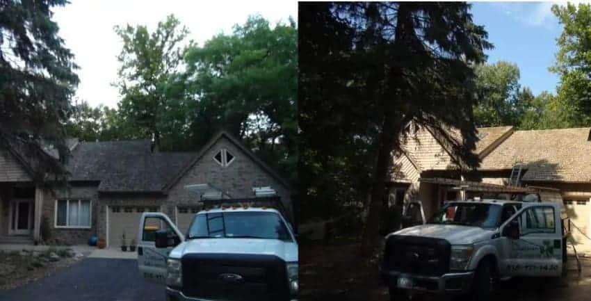 Cedar Roof Cleaning, Bloomington, MN. 850x433