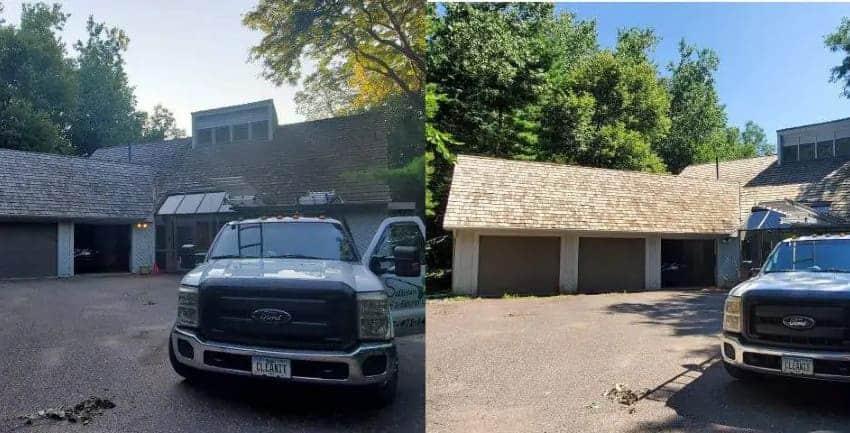 Cedar Shakes Roof Cleaning, Burnsville, MN. 850x433