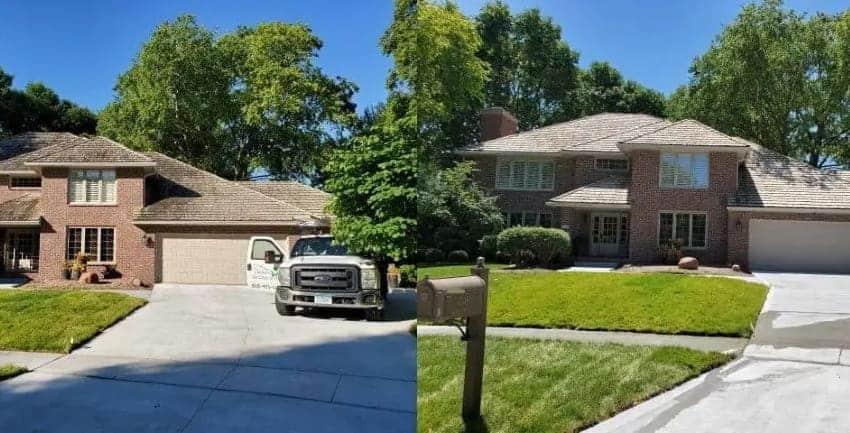 Cedar Roof Cleaning, West Des Moines, Iowa 850x433